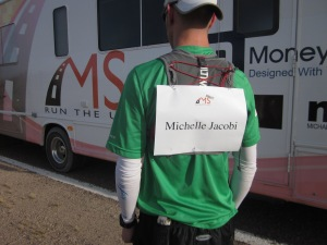 Day 3 was run for a fellow Relay runner who is living with MS, Michelle Jacobi.
