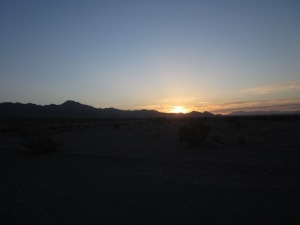 Sunrise over the desert, from Amboy